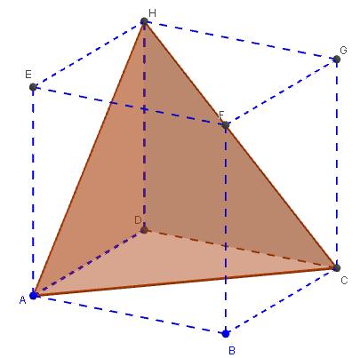 tétraèdre régulier hauteur